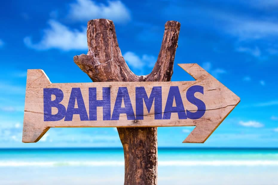 Bahamas This Way Sign
